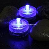 Luz electrónica de la vela del sumergible LED de la luz impermeable romántica del té para la decoración de la tarjeta del día de San Valentín del banquete de boda