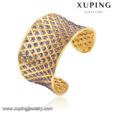 Reizend Goldluxuxschmucksachen CZ-geöffnetes Armband der Form-B-110 mit violettem Stein