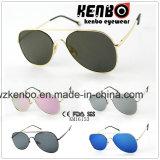 Design atualizado clássico óculos de Metal Km16153 Lente plana
