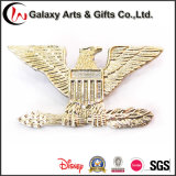 Distintivo di Shap del foglio dell'albero del metallo 3D di doratura elettrolitica come regali