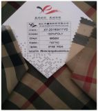 Chiffon de poliéster tela impresa, hilado teñido de cuadros escoceses