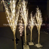 1.5M Noël décoration de jardin LED feux Birch Tree