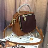 Echtes Leder-Rucksack-Form-Handtasche Farbe-Collsion Entwurfs-Schulter-Beutel für Dame Emg4956