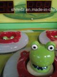 Martillo de fichas de la rana de Crazy Frog de la máquina de juego de arcada del martillo del juego de los cabritos del golpe del martillo del rescate del juego de la rana feliz de Machcrazy que golpea la máquina de juego de arcada del rescate