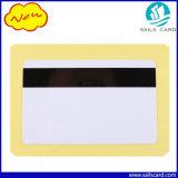 Tarjeta con chip de PVC blanco con banda magnética