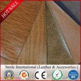 Lycheeの穀物が付いているソファーのためのPVC人工的な総合的な革