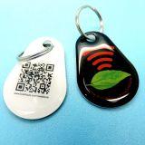 Aptidão NTAG213 RFID Epoxy Keychain NFC Keyfob da ginástica do clube com código de QR