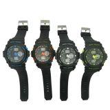 Buitensporige Horloge van de Chronograaf van het Kwarts van de Beweging van het Elastiekje van het plastic Geval het Zwitserse
