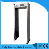Detector de metais do quadro da porta para o metrô e prisão do aeroporto