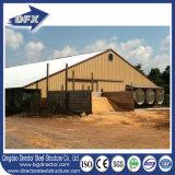 Aço Curvo moderno edifício comercial pré-fabricados de frango/Prefab Farm House Filipinas