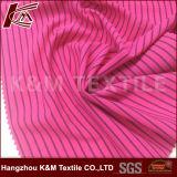 Buntes Streifen-Polyester des 92% Polyester-8%Spandex, das 4 Möglichkeits-Ausdehnungs-Gewebe für T-Shirts strickt
