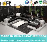 Couro branco moderno Venda Quente Leisure sofá de couro (HC1040)