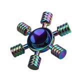 Fs063 friemelt de Regenboog EDC van de Leidraad van de Legering van het Zink de Spinner van de Hand van de Spinner met de Certificatie van Ce