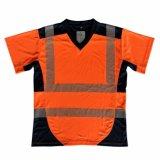 V-hals T-shirt van de Band van de Overdracht van de Hitte de Weerspiegelende van Fabriek