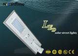 50W todo em uma lâmpada solar do jardim da luz de rua do diodo emissor de luz