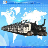 材木のトラックの輸送の木製のログのトラックの森林トラックのトレーラー
