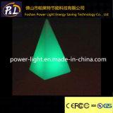 Lampe Couleur-Changeante moderne de Tableau de la lumière DEL de pyramide de décor
