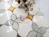 花模様の大理石の組合せのしぶき(CFW80)のためのウォータージェットの切断による鋼鉄モザイク・タイル
