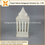 De alta calidad de alta resalte forma cerámica Candle Holder House