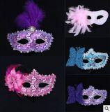 Mascherina di plastica della piuma per il partito di Halloween