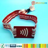 Sécurité élevée 13.56MHz MIFARE Plus S 2K tissé NFC bracelet RFID