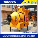 Massa rebocável Jzm750 4 Rodas acionadas Misturador de cimento/máquina de mistura de cimento portátil