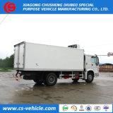 Marca famosa HOWO 4X2 Freezer Van caminhões refrigerados 8 toneladas à venda