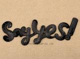 ジャケットのTowellingのバッジのための卸し売り方法刺繍パッチの文字