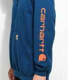 Firma arancione Hoody del pullover del blu marino della firma di Carhartt