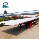 Flachbettbehälter-Schlussteile der Aotong Marken-40FT/Plattform-halb Schlussteil (Portalrahmen wahlweise freigestellt)