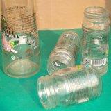 Vaso di muratore di vetro all'ingrosso con il coperchio del metallo