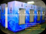 Ventilador interno que refrigera o escaninho de armazenamento ensacado do gelo com porta de vidro