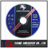 De Uiterst dunne Scherpe Schijf van schuurmiddelen voor Metaal 115X1X22.2