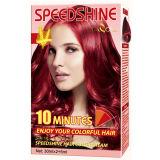 Creme permanente Borgonha da cor do cabelo de um Speedshine de 10 minutos