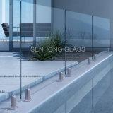 De Balustrade van het gehard glas