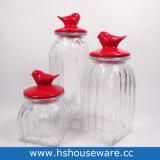 Un insieme dell'insieme chiuso ermeticamente libero della scatola metallica 3 con i contrassegni della lavagna ed il coperchio di ceramica del gufo