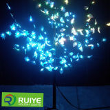 Natal ao ar livre da luz da árvore do galho da decoração do diodo emissor de luz