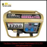 1.5kVA Recoil Start Good Quality Aluminium Wire Gasoline Generator