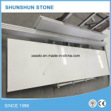 Populares bancadas de pedra de quartzo branca pura para cozinha