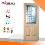 China-preiswertes Glas getäfelte feste Tür