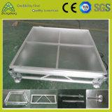 Этап случая алюминиевого случая представления напольный портативный акриловый