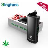 Kingtons Ecig Starter Kit negro de la ventana de hierba seca vaporizador para Vape Shop