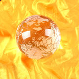 Map Sandblastingの水晶Globe Ball
