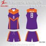 Healong 판매를 위한 가장 새로운 디자인 스포츠 착용 승화 숙녀 학교 배구 저어지