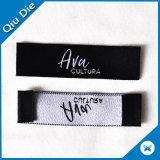 Hoog ontwerp - de Hoofd Witte Geweven Etiketten die van de dichtheid het Stof Geweven Etiket van de Hals kleden