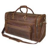 工場価格の大きい容量のレトロのブラウンのDuffle袋の狂気の馬革旅行袋