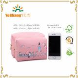 Impression colorée Cute PU Cosmetic Bag, Toiletry Bag