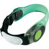 Wristband elastico chiaro funzionante di scossalina del LED