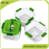 Дешевые Custom пластиковые четче свежих продуктов питания за круглым столом контейнер