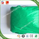 Prata verde 100gsm, de HDPE Folha de lonas de plástico estabilizado contra raios UV